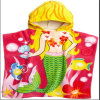 Cotton Printed Bath Poncho Beach Towel for Kids