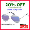 Premium Quality Pilot Design Classical Metal Sunglasses for Unisex (FCSMAD1441)