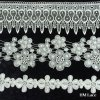 Lace Fabric for Lady Accessories with Scalloped and Snow Pattern, Trim Lace Hml080
