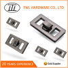 Hollow Rectangle Zinc Alloy Turn Lock for Handbag Hardware Accessories