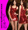 Wholesale Sexy Sequin Clubwear Party Lingerie Dress 5401-Red