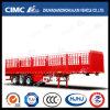Cimc Huajun Double-Stake Cargo Semi Trailer with Longitudinal Cover Stick