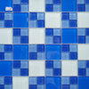 Foshan Factory Decorative Wall Crystal Glass Mosaic Tile
