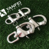 Stainless Steel Snap Shackle with Swivel or Fixed Eye