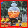 Embossment Pattern Glass Beverage Dispenser Jar