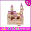 2015 Wooden Folding Medieval Castle Toys for Kids, Lovely Wooden Castle Toy for Children, Cute Wooden Toy Castle for Baby W06A034