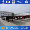 3 Axle 40FT Flatbed Container Semi Trailer with Container Locks