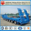 100t Low Bed Semi-Trailer 4 Axles Lowbed Truck Trailer
