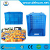Plastic Vegetable Foldable Crate Plastic Turnover Boxes with Hinged Lids