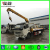 3 Ton 4X2 6 Tires Wrecker Towing Flatbed Truck Mounted Crane