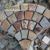 St-015 Rustic Brown Slate Meshed Paving Stone for Landscape