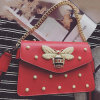 Hot Fashion PU Leather Handbag New Design Ladies Shoulder Bags with Pearl Sy8500
