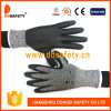 Ddsafety 2017 Black Nitrile Cut Resistant Glove