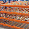 Flow Rack for Boxes Sliding Shelves for Warehouse Storage System