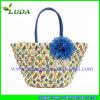 Luda 2015 New Designed Cornhusk Straw Beach Bag in Summer