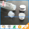 Chemical Resistant Via Stopper Transparent PVC Cap / Bottle Lid