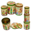 Popular Foreign Christmas Candy Packing Tin Can
