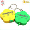 Custom Flower Shape Plastic Ruler Keyrings