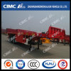 3axle Flatbed Semi Trailer with 400mm Front Wall
