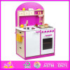 2014 New Cheap Wooden Kitchen for Kids, Preschool Play Kitchen Toy for Children, Modern Comfort Kitchen Set Toy for Baby W10c065