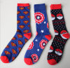 Spring Autumn Individuation Cotton Captain America Elves Ball Men′s Stockings