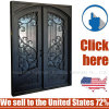 Cheap Price Entrance Wrought Iron Door