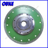 Sintered Diamond Turbo Wave Saw Blade with Flange