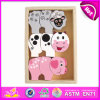 2014 New Colorful Wooden Kids Animal Toy, Popualr Cute Children Wooden Animal Toy, Hot Sale Lovely Baby Animal Toy Set W13e028
