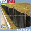 PP Woven Silt Fence Geotextile / Black Welded Silt Fence