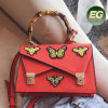 2017 New Style Butterfly Decorating Handbag Ladies Hand Bag Embroidered Woman Bags with Wholesale Price Sy8677