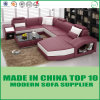 Modern Italian Leather U Shape Living Room Sofa for Home