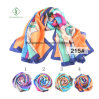 100% Silk Fashion Lady Scarf with Printed Shawl for Gift