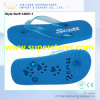 Comfortable PE Slipper Cheap Flip-Flops with Blue PVC Strap