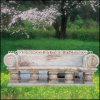 Natural Marbe Garden Bench for Ornament (GS-TB-003)