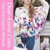 Casual Fashion Long Sleeve Lady Chiffon Shirt
