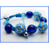 2017 New Style Blue Beaded Bracelet