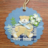 Printing Hanging Decorative Tag / Handmade Printed Animal DIY Paper Craft