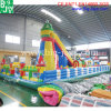 Amusement Park Giant Inflatable Bouncer Slide with Climb Wall