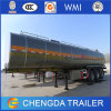 Chinese Stainless Steel Fuel Oil Tanker Semi Trailer