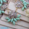 Newest Fashionable Flower Shaped Green Acrylic Rhinestone Beads Jewelry Accessories