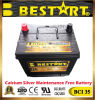 High Performance 2 Year Warranty USA Car Battery Bci 35