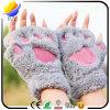 Ladies Semi-Finger Plush Bear Cartoon Warm Gloves