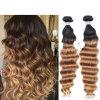 Brazilian Ombre Deep Wavy Hair, Ombre Deep Wave 3PCS Cheap Brazilian Ombre Hair Extensions Deep Curly Cheap Ombre Bundles of Hair