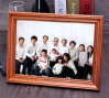 Big Natural Wood Happy Family Photo Frame