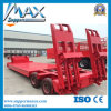 Best Heavy Load 50tons Low Bed Semi Trailer with Two Ladders