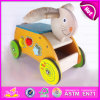 2015 Newly Cheap Kids Wooden Tricycle with Blocks, Lovely Rabbit Design Wooden Tricycle, Comfortable Safe Wooden Tricycle W16A018