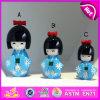 2015 Newest Fashion Wooden Geisha Doll for Kids, Best Wooden Gifts Geisha Doll, Mini Japanese Geisha Girl Doll in Kimono W06D070b