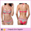 2016 American New Designs Women Floral Print Spaghetti Strap Backless Tankinis Bikini Swimwear