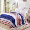 100% Polyester Decorative Floral Printed Flannel Throw Blankets