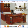 Chinese Vintage Wooden Office Table with PU Pattern